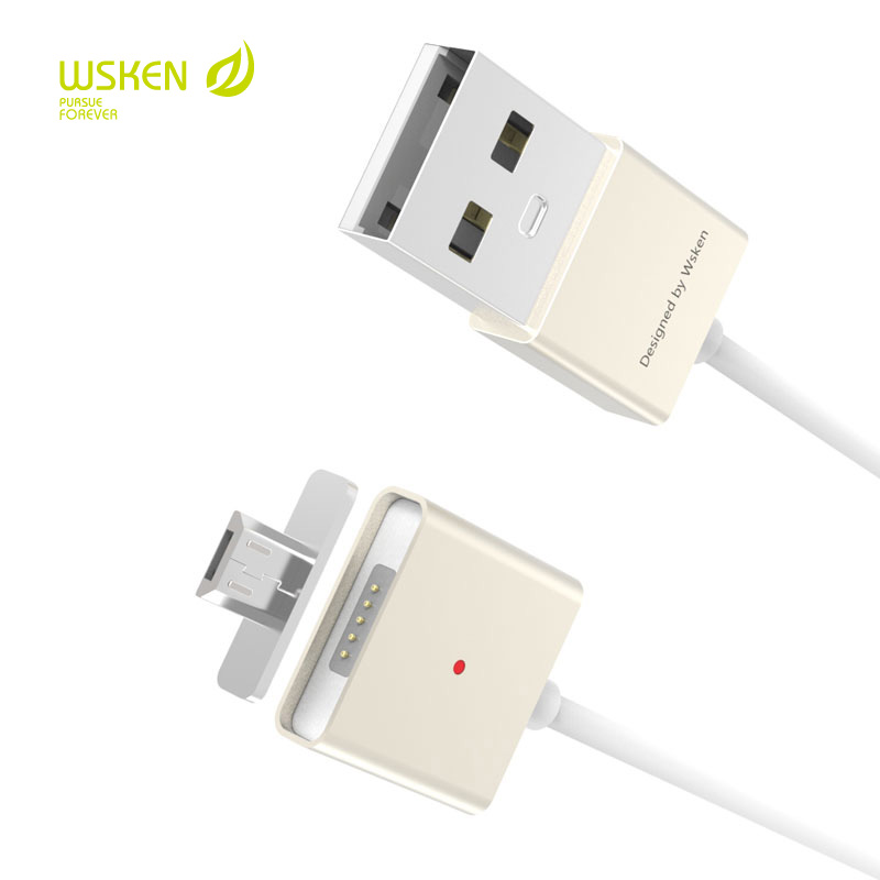 Original Wsken X Cable Double Metal Magnetic Cable For Micro USB Smartphones with 2pcs Magnetic Adapter