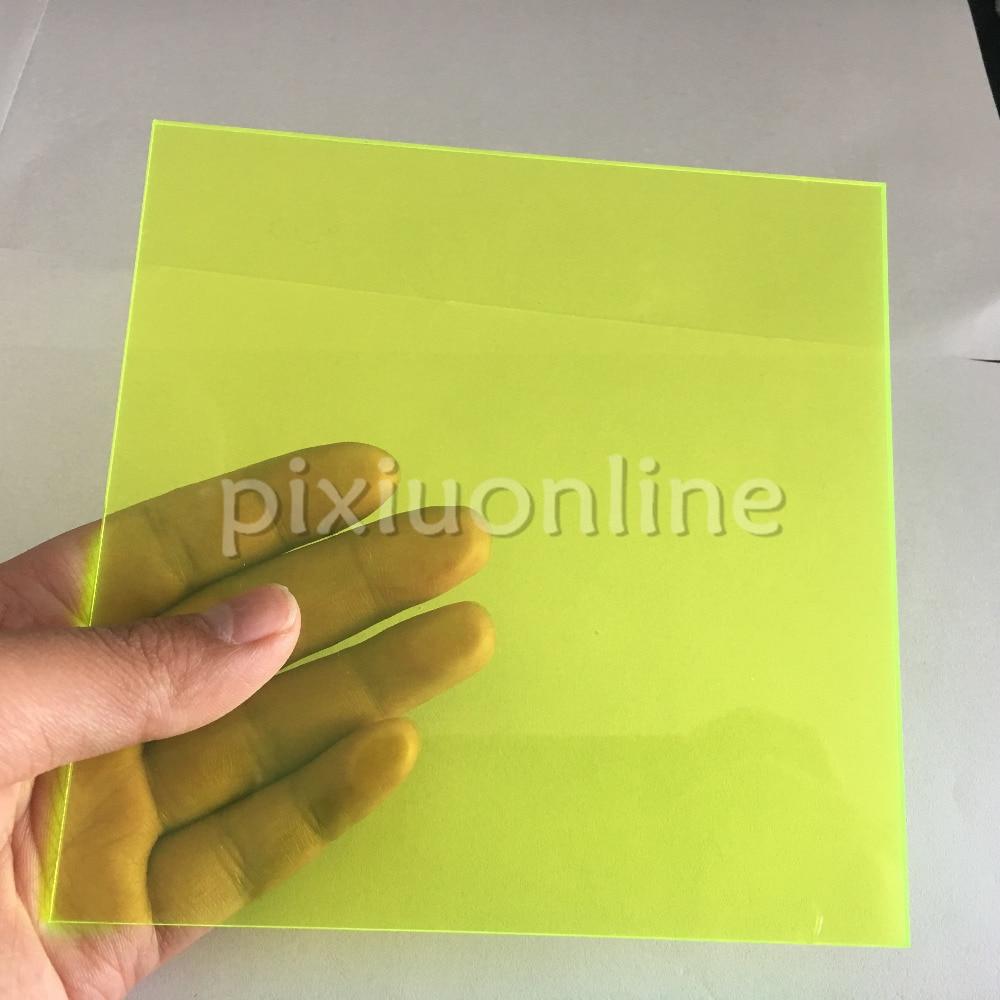 J588b läbipaistev akrüülplaat erkroheline ülilähedane kvaliteetne 15 * 15cm ruudukujuline plastikplekk, mis saadetakse Shanghaist