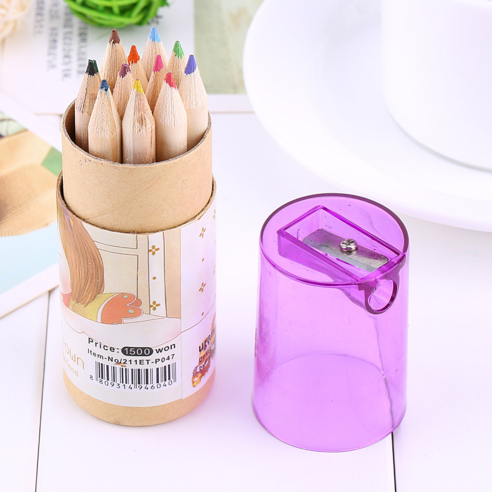 online get cheap writing drawing com alibaba group whole 12 colors set girl painting stationary supplies drawing writing wooden pencils cute box