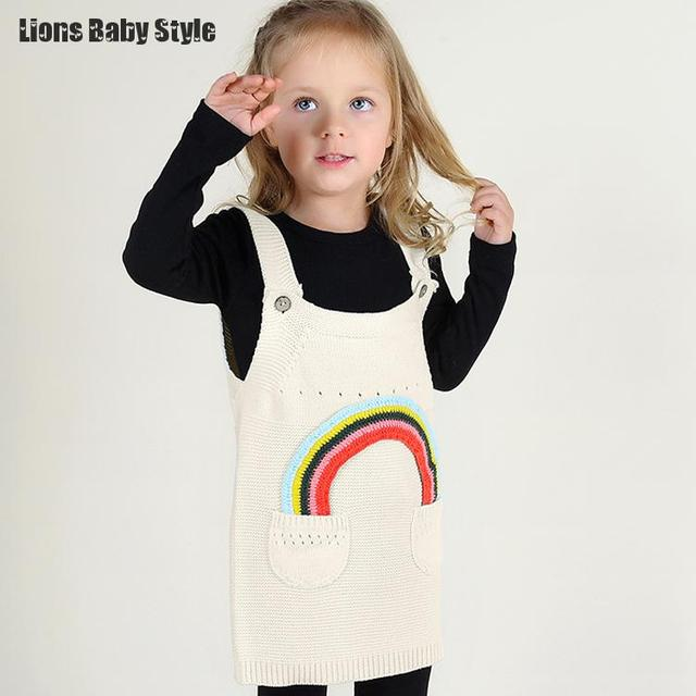 1acea97113cd3 2016 Ins Fashion Rainbow Baby Clothing Bobochose Girls Sweaters Pull Enfant  Girl Cardigan Kids Female Baby Clothes Dress Coat-in Sweaters from Mother  ...