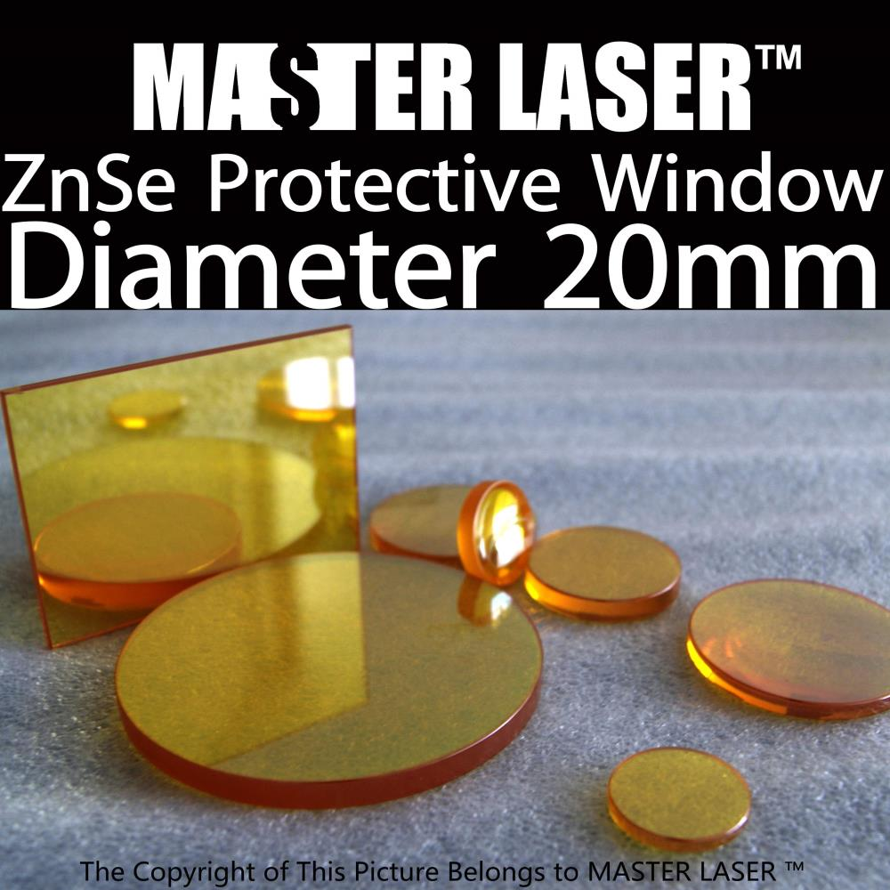USA Imported ZnSe Window for CO2 Laser Cutting Machine Focus Lensdia20mm Thickness 3mm Protective Window Laser Lens usa znse laser lens diameter 20mm focus length 38 1mm for co2 laser cutting engraving machine cutter parts