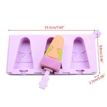 Summer Silicone Ice Cream Mold Reusable Juice Cubes Tray Frozen Popsicle Lolly Pop Mould Maker Tools цена и фото