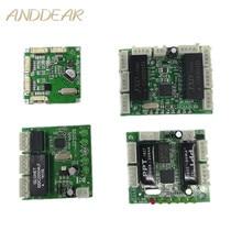 Mini modul design ethernet switch circuit board für ethernet schalter modul 10/100 mbps 3/4/5 /8 port PCBA bord OEM Motherboard
