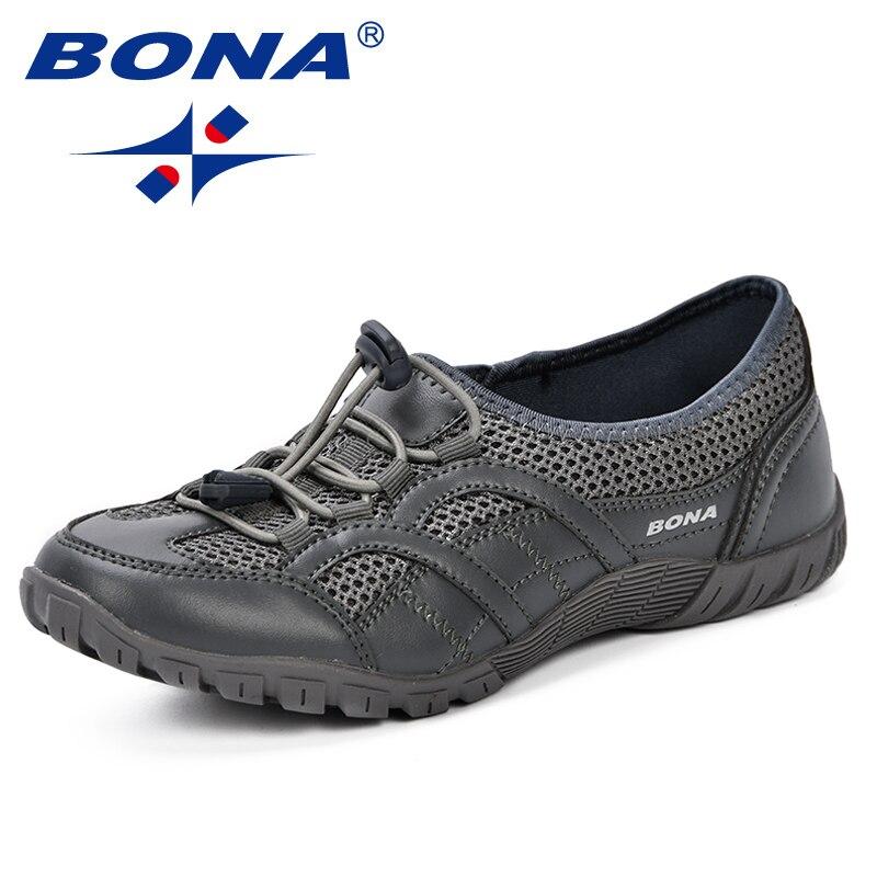 BONA nouveau en plein air adultes formateurs chaussures de course femme maille chaussures Sport athlétique respirant femme baskets 2019 printemps automne - 4