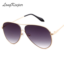 LongKeeper Cool Fashion Pilot Sunglasses Men Male Sun Glasse