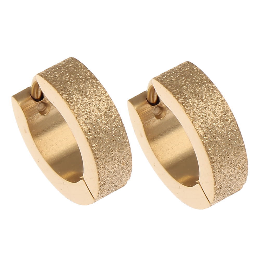 Stainless Steel Huggie Hoop Earring For Women Men Circle Gold Jewelry Hip  Pop Christmas Gift For Women Male