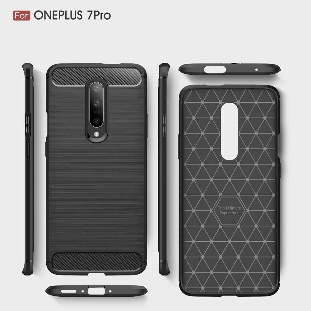 Carbon Fiber Coque Cover For Oneplus 7 Pro Case For Oneplus 6T 6 One Plus 5T 5 oneplus 3T 3 Phone Back Coque Cover Capa Oneplus7