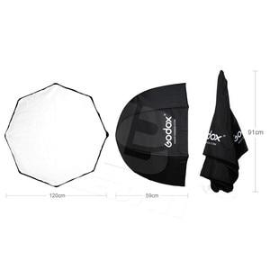 Image 3 - 120 cm/47in Godox Taşınabilir Sekizgen Softbox Şemsiye Speedlight Flaş için Brolly Reflektör