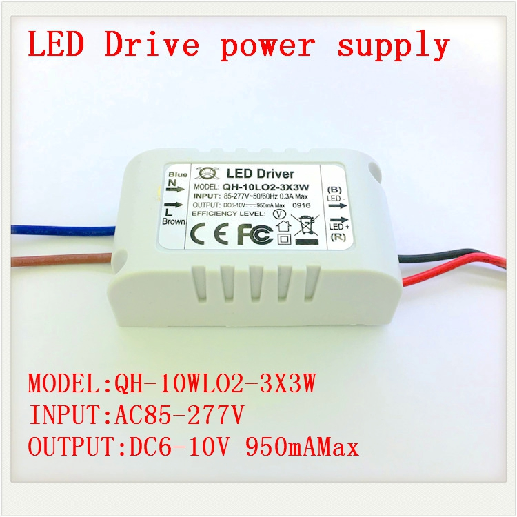 1 5 10pcs Isolated 900mA 10W <font><b>Led</b></font> <font><b>Driver</b></font> 2X3W 3X3W AC 110V 220V to DC 6-10V Power Supply for 10W High Power Red White <font><b>LED</b></font> Chip image