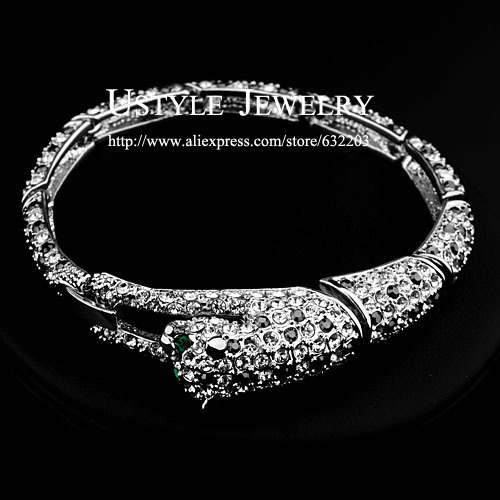 Fashion Brand Design White Gold  Plated Rhinestones Inlaid Fox Beauty Bracelet (Ustyle JB0031B)