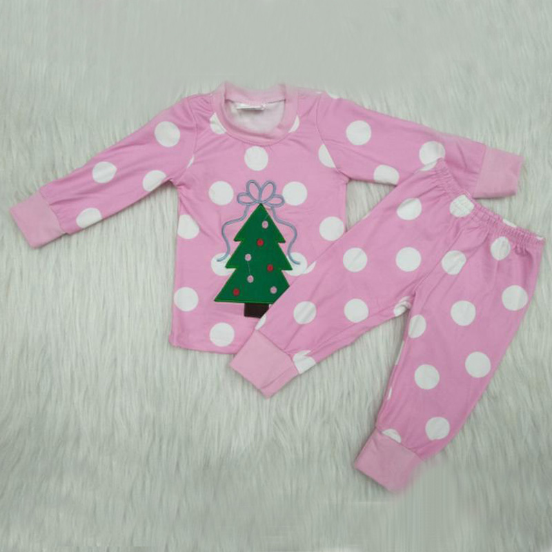 Yawoo Popular Dropshipping Christmas pajamas Baby Girl Clothes Outfits Top +Pants Clothing Sets Suit