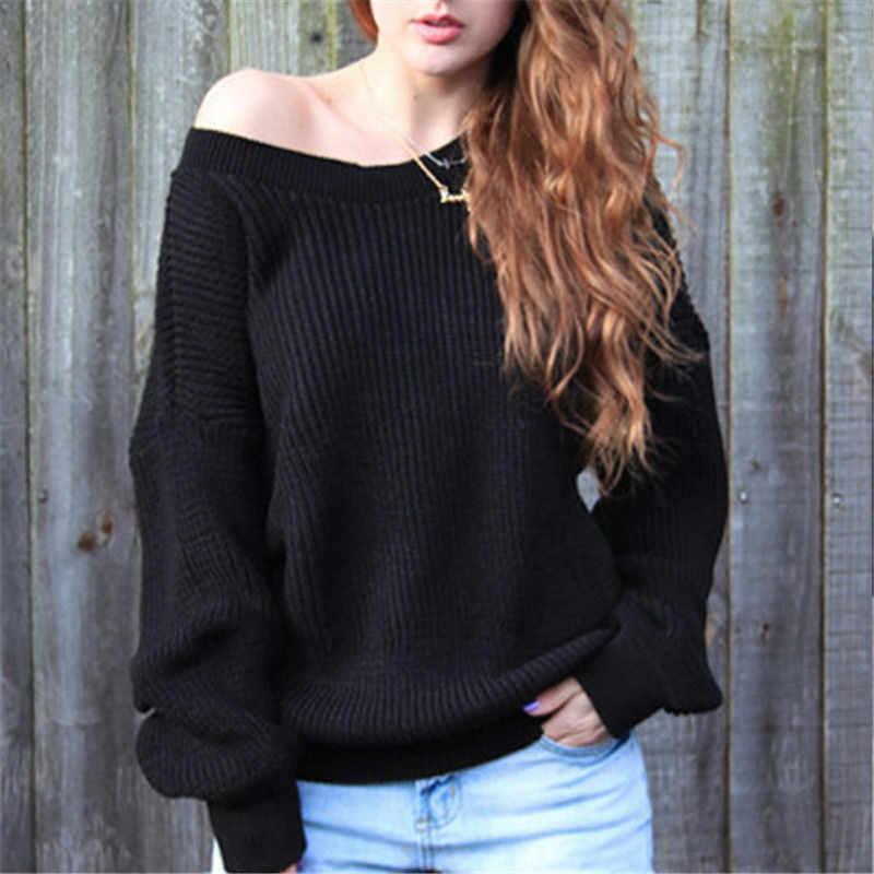 Winter Knitted Hoodies Women 2017 Autumn White Pullover Hoodie Sexy Deep v Neck Long Sleeve Jumpers Pull Femme sweter mujer
