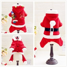 20pcs/lot New Puppy Dog Santa Costume Christmas Pet Clothes Hoodie Coat Easter Bunny Clothing for Dog WA1225