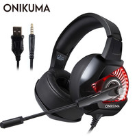 ONIKUMA Gaming Headset casque PC Gamer Bass Stereo Headphones with Microphone for PS4 Gamepad New Xbox One Computer Laptop