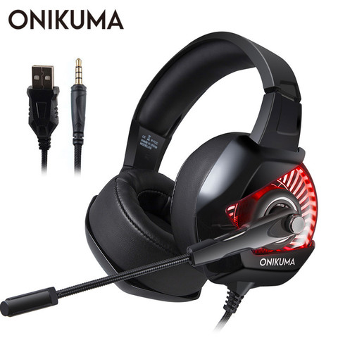 Fones de Ouvido Estéreo com Microfone para Ps4 Onikuma Casque Gamer Gaming Headset Baixo Gamepad Novo Xbox um Computador Portátil pc