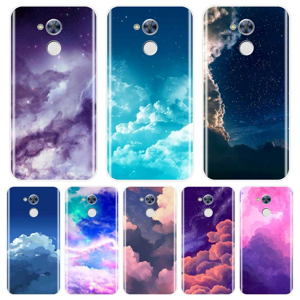 TPU Back Cover For Huawei Honor 6A 4C 5C 6C Pro Soft Silicone Cloud Star Sky Aesthetic Phone Case For Huawei Honor 6 5A 4X 5X 6X