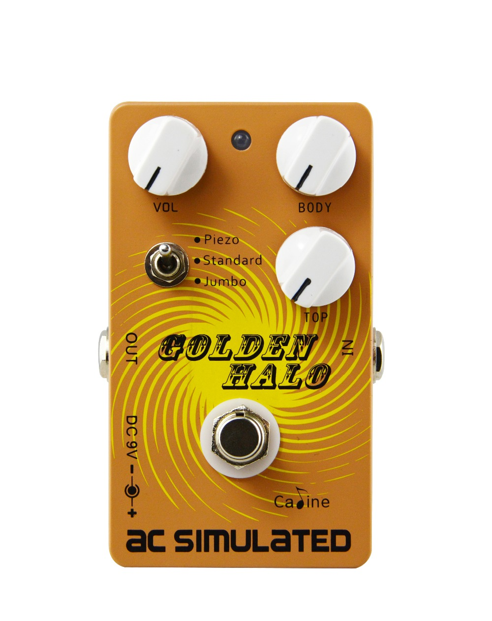 New Arrival Caline CP-35 AC Simulated Guitar Effect Pedals Acoustic Effects Guitar Parts Three Knobs Gold Color плиткорез hammer plr450 flex