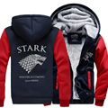 Game of Thrones sweatshirt Men House Stark Mens thick jacket hot sale 2017 autumn winter A Song of Ice and Fire Winter Is Coming