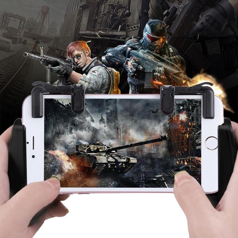 VODOOL K01 2Pcs Mobile Phone Games Control Shooting Button Assist Tools With K1 Game Controller Gamepad Kit For PUBG FPS TPS STG