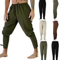 Men Medieval Trousers Cosplay Costume Pirate Viking Renaissance Leg Bandage Loose Pant Halloween Costumes for Men Adult Pants
