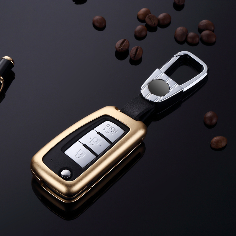 folding car remote key case for Nissan X Trail Juke Qashqai Micra Pulsar Waterproof case for car key Silicone case for car key in Key Case for Car from Automobiles Motorcycles