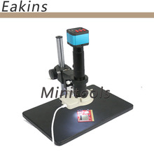 Cheap price 14MP HDMI USB Digital Industry Video Microscope Camera Set + Big Stand Table+300X C-MOUNT Lens for PCB phone repair