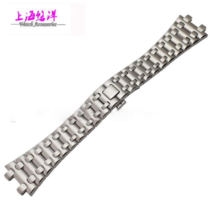 28mm high quality imported stainless steel watch bracelet for AP with fashionable buckle stylish survival glowing in the dark paracord bracelet with stainless steel buckle white