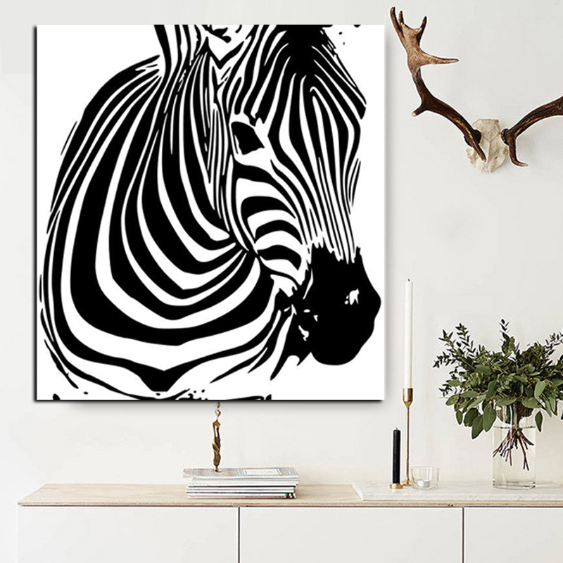 Zebra animal art poster hd prints colorful and black watercolour zebra animal art poster hd prints colorful and black watercolour canvas painting wall painting picture for living room cuadros in painting calligraphy altavistaventures Gallery