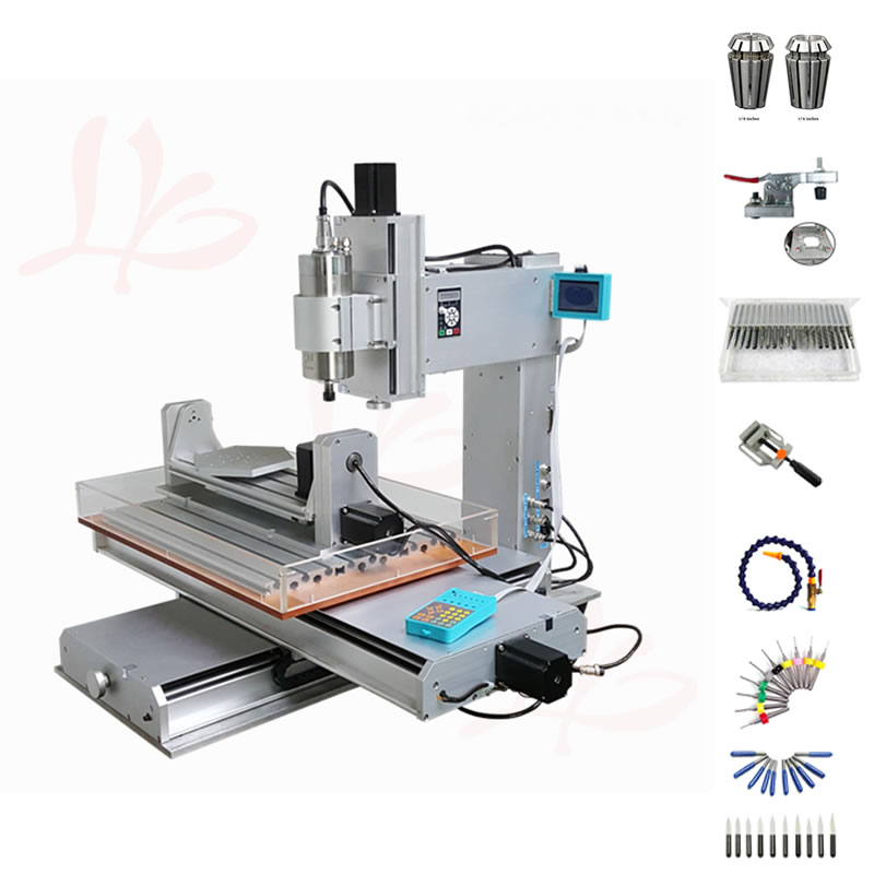 5 axis cnc 6040 2200W spindle DIY mini wood router high performance metal engraving cutting machine with cutter collet clamp
