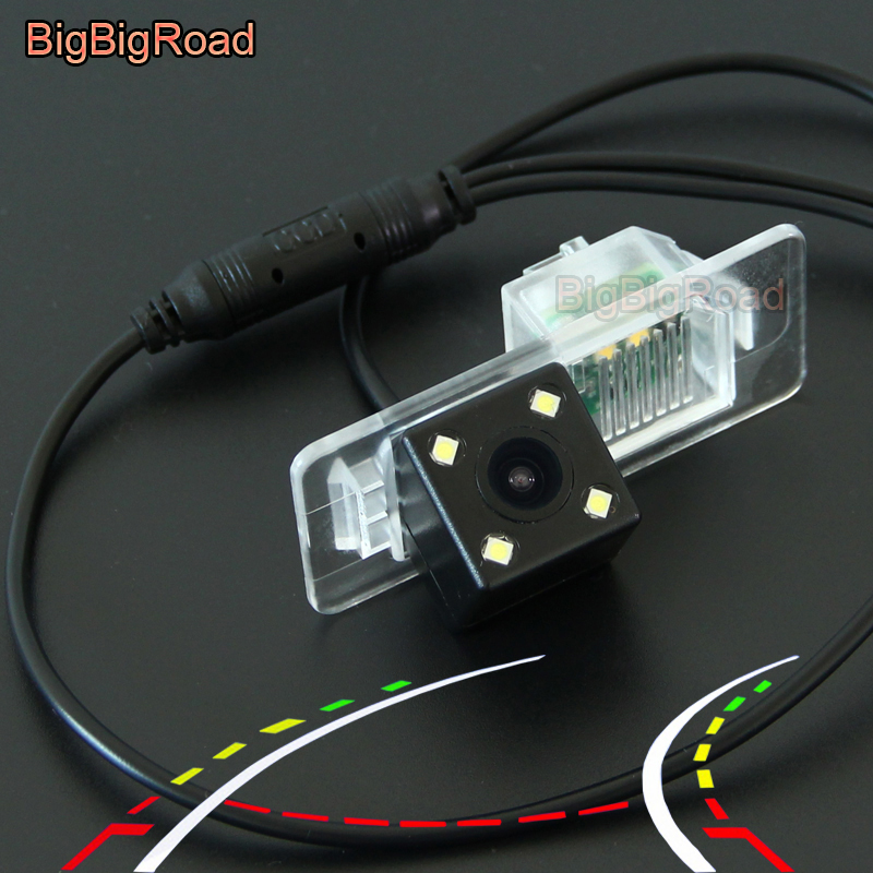 BigBigRoad Car Intelligent Dynamic Trajectory Tracks Rear View CCD Camera For BMW 2 F22 F45 X5 X5M F15 4 F32 F33 F36 2014 2015
