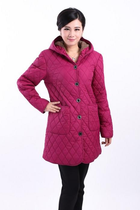 Coats New High Quality Warm Women Winter Jacket Solid Color Coat Fashion Long Slim Wadded Thick Parka Female 426 in Parkas from Women 39 s Clothing