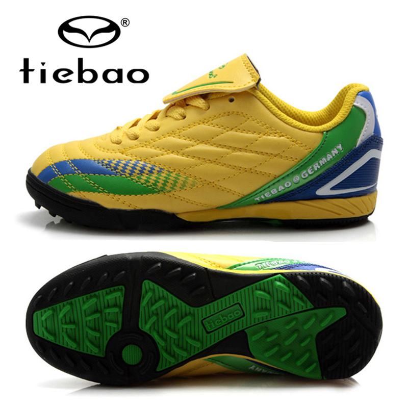 TIEBAO Football Boots Children Kids Outdoor TF Turf Sloes Football Shoes Sneaker Running Shoes For Girls