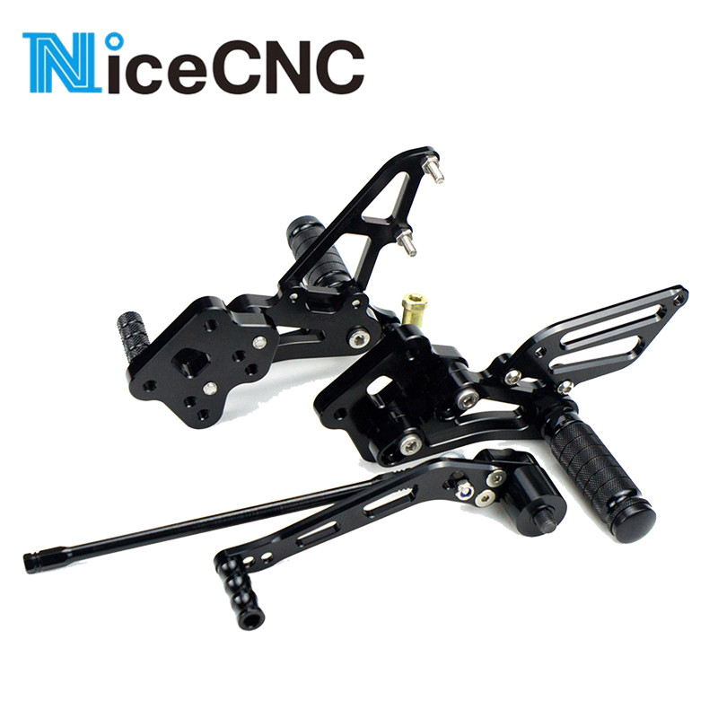 Adjustable Foot Pegs Rest Footrest Rearsets For Suzuki GSXR600 GSXR750 GSXR <font><b>GSX</b></font>-R 600 <font><b>750</b></font> 2010 2009 <font><b>2008</b></font> 2007 2006 Rear Sets image