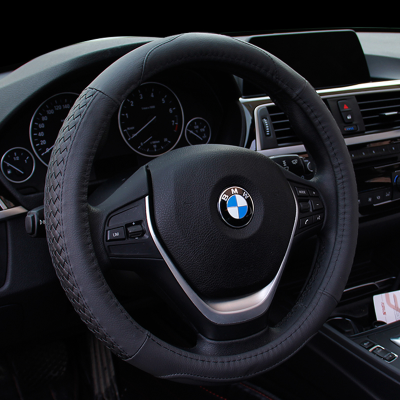 2017 News Leather Car Steering Wheel Cover For Bmw E83 X1 X3 X5