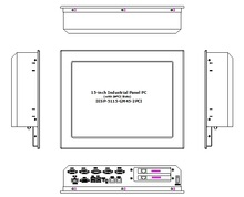 15″ industrial touchscreen panel PC, 2 * PCI Expansion Slots, Core 2 Duo P7550 CPU, 4GB RAM, 500GB HDD, 2GLAN, 4*RS232