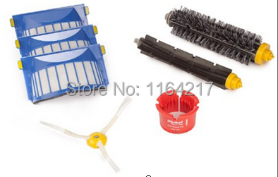 3X Aero Vac Filters + Bristle Brush + Beater Brush kit for iRobot Roomba 600 Series 620 630 650 660 vacuum cleaner accessories цены онлайн