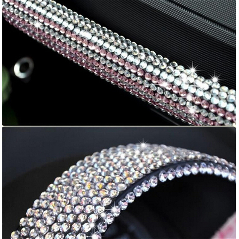 Diy 1600pcs 2 Sheets Crystal Diamond Rhinestone Car Mobile Pc Decor Decal Styling Accessories