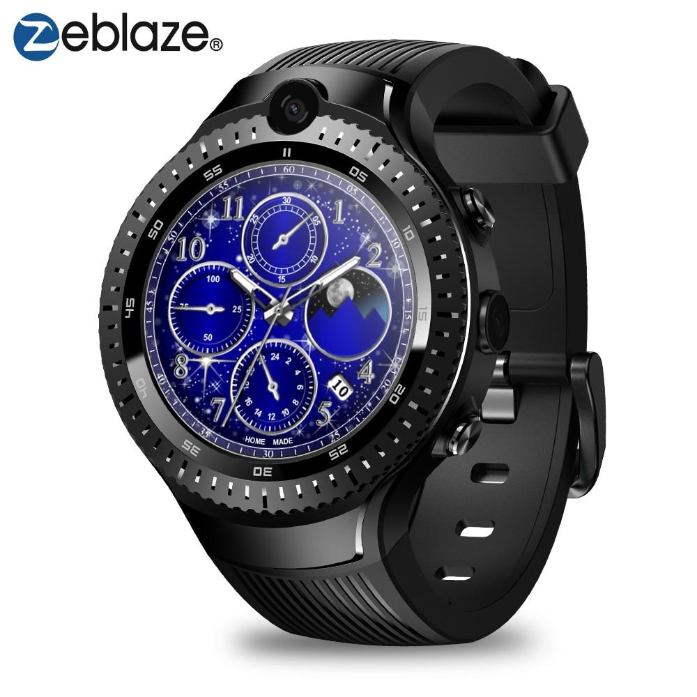 "New Zeblaze THOR 4 Dual 4G SmartWatch 5.0MP+5.0MP Dual Camera Android Watch 1.4"" AOMLED Display GPS/GLONASS 16GB Smart Watch Men"