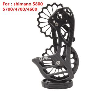 Image 4 - Bicycle carbon fiber ceramic rear derailleur 17T pulley Guide Wheel for Shimano 6800 R7000 R8000 R9100 R9000 bicycle accessories