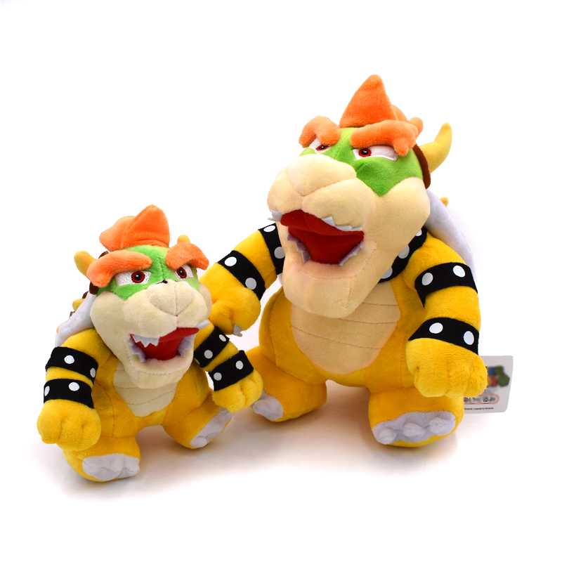 2Styles Optional Bowser Plush Super Mario Bros Bowser Koopa Stuffed Doll Soft Plush Doll Gift For Children Free Shipping