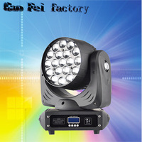19*12W Led Moving Head Beam Light RGBW Zoom LED Lockable Power Con IN/OUT Control By Universal DMX Controller