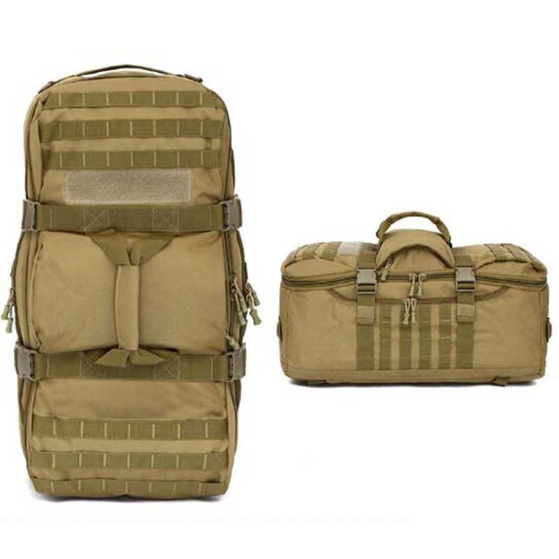 حقيبة الظهر التكتيكية العسكرية على ظهره المشي لمسافات طويلة حقيبة متعددة الاستخدامات رجل حقيبة بنقوش عسكرية التخييم الرياضة حقيبة ظهر خلفية العسكرية