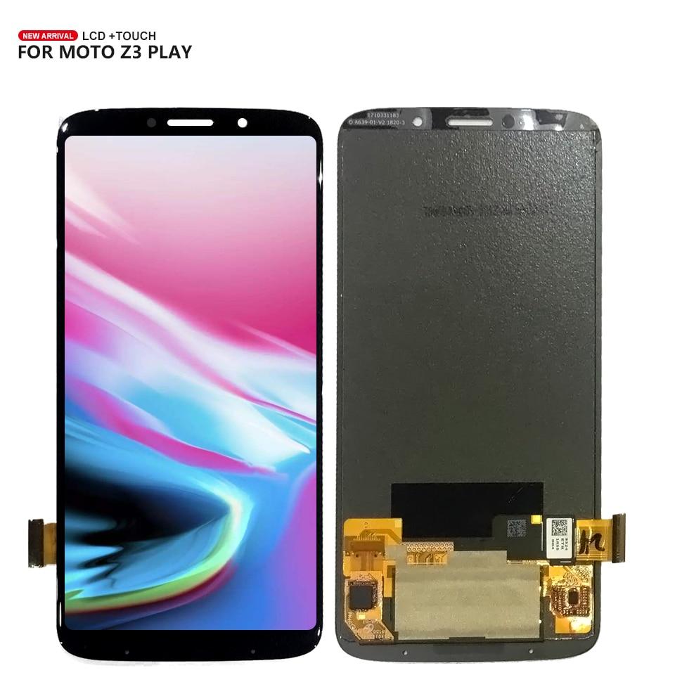 Pour Motorola Moto Z3 Jouer Écran Tactile Digitizer Lcd Assemblée D'affichage Remplacement Livraison Gratuite