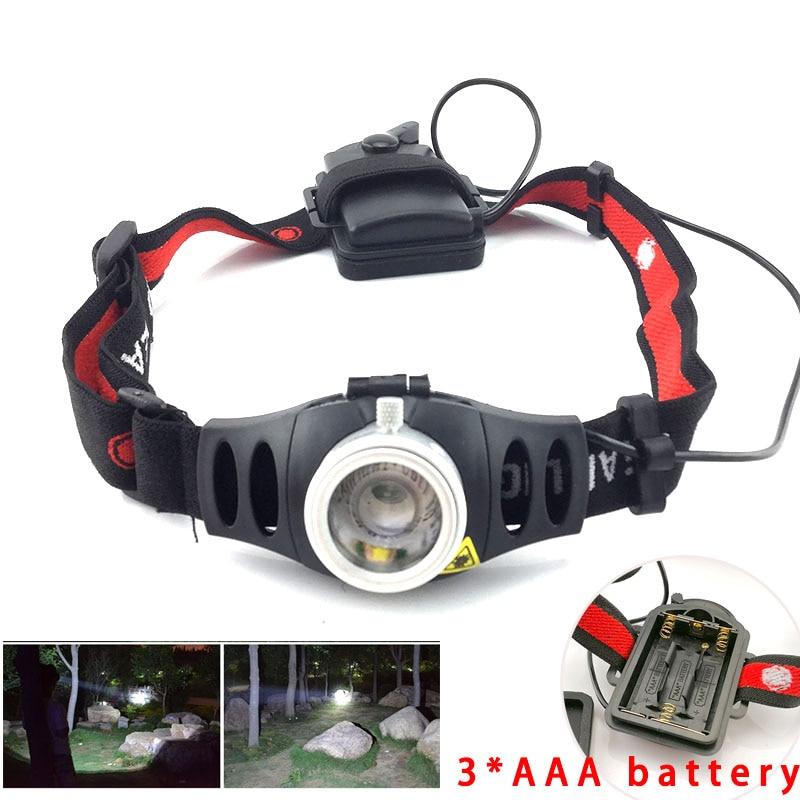 3W LED Headlamp Flashlight Zoomable Headlight Head Torch Lamp Light  BE