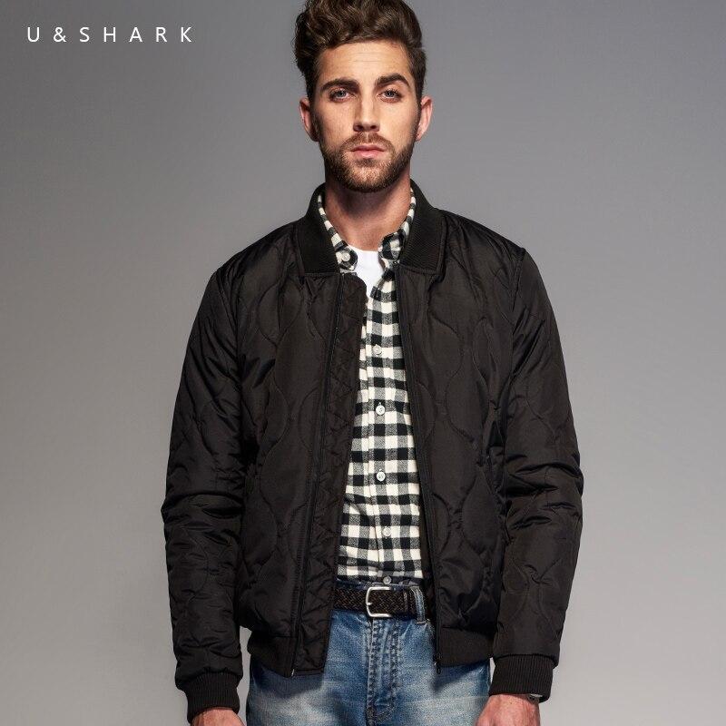 U & requin printemps automne nouveau noir Bomber veste manteau hommes marque Streetwear haute qualité Baseball vestes mâle coton rembourré Parkas