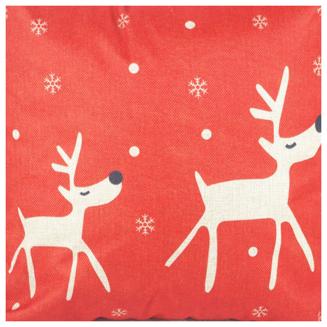 Christmas flax waterproof sweat Interior decor Body pillow cover 45 x 45 cm (red elk)