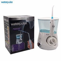 Waterpulse Water Flosser Oral Irrigator With 5 Tips For Teeth, Braces and Bridges Dentive Professional Aquarius