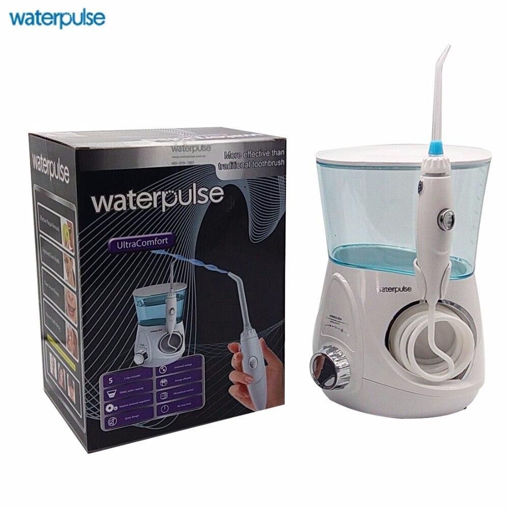 Waterpulse Eau Flosser Hydropulseur Avec 5 Conseils Pour Les Dents, accolades et Ponts Dentive Professionnel Verseau