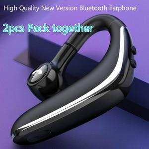 Image 1 - 2pcs Pack bluetooth headset 5.0 wireless headphone earphone super long standby earpiece with Mic Sweatproof Noise Reduction