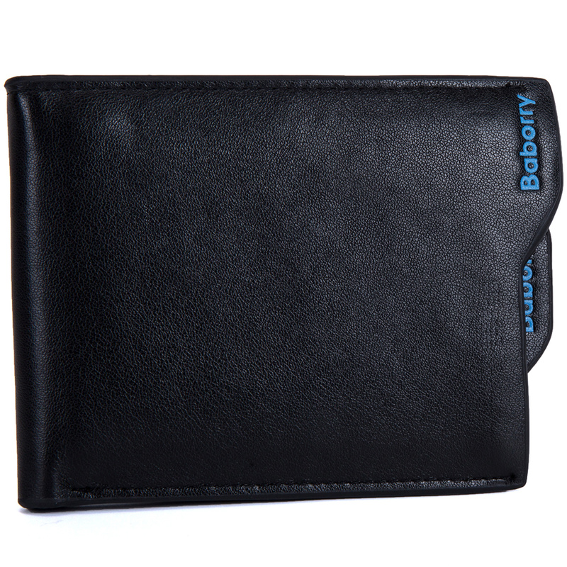 New 2019 Men Wallets Leather Coin Purse Mens Wallet Male Money Purses Soft Card Case New Classic Soild Pattern Designer Wallet 4